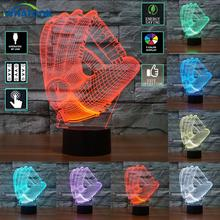 3D Baseball gloves Visual Light Boston Red Sox Mitt Illusion atmosphere Night light Color Changing Touch Lamp Gift for Kids