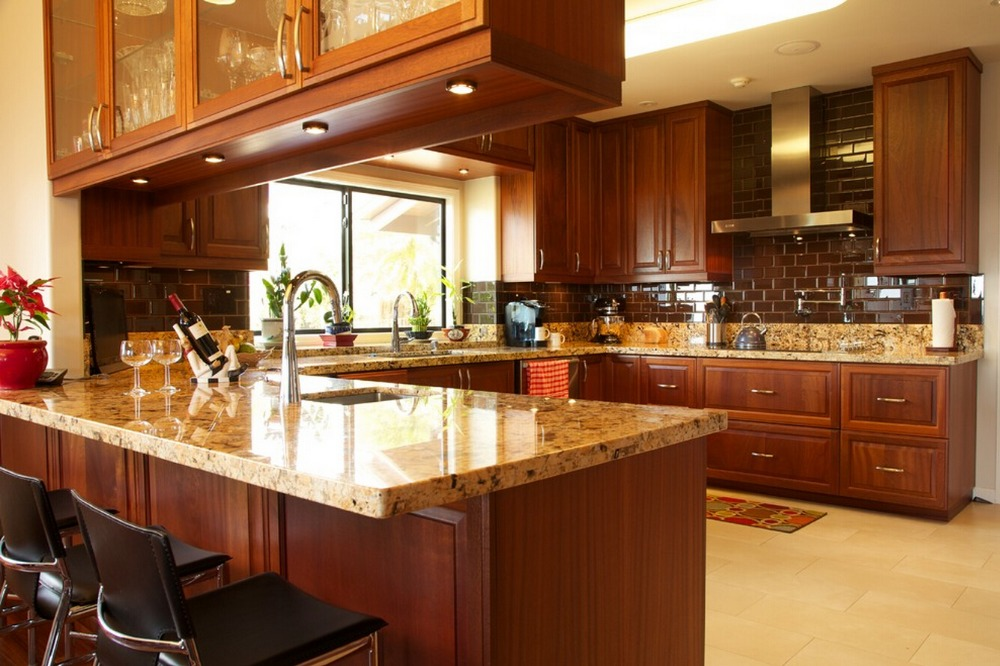 2016 Traditional Customized Made Solid Wood Kitchen Cabinets Wooden Cabinets With Island Cabinets S1606194