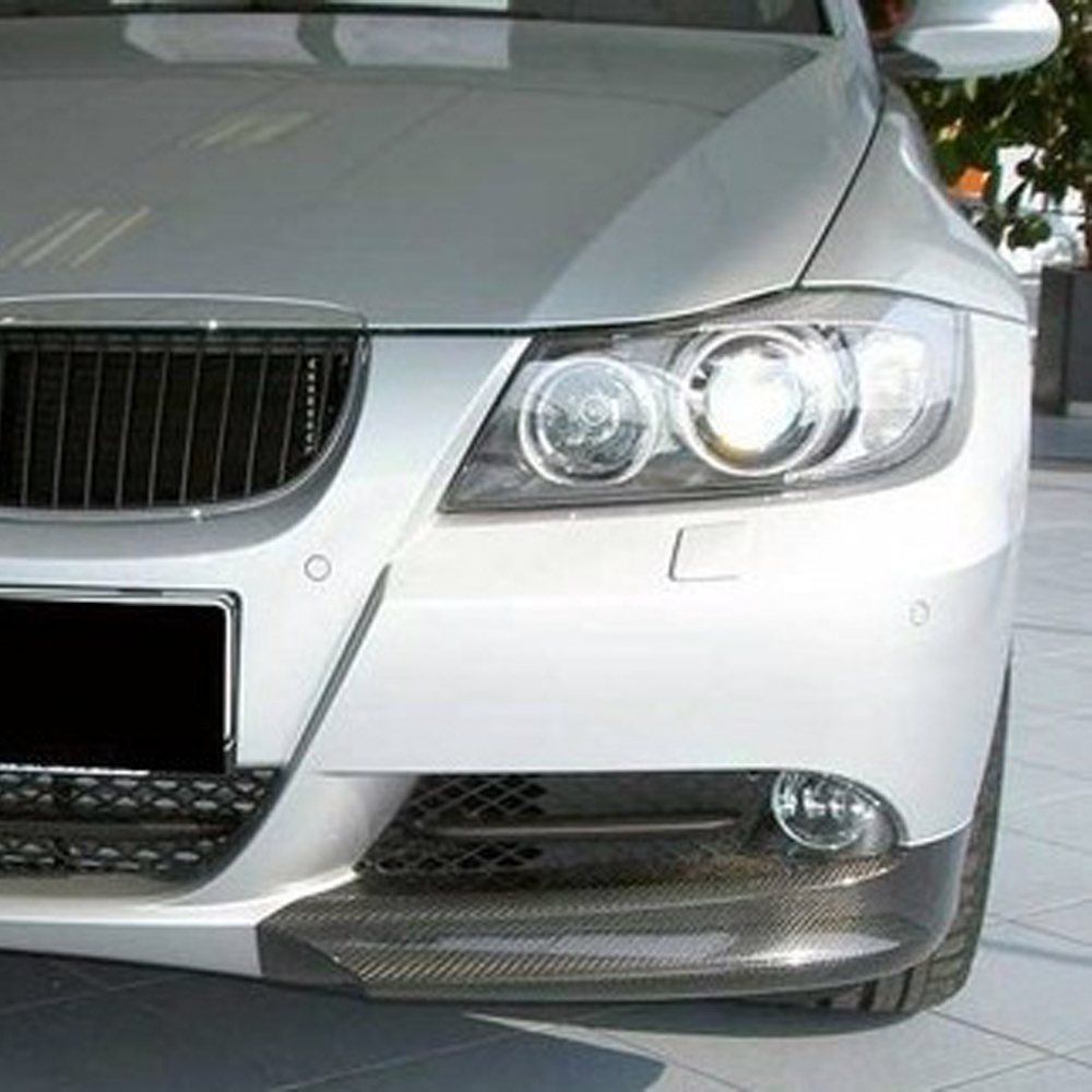 E90 Carbon Fiber Car Front Body Kit Splitter Apron Cover Trim for BMW E90 Standard Bumper 2005-2008 pair car front headlamp clear lens headlight plastic shell clear cover for bmw e90 e91 2004 2005 2006 2007