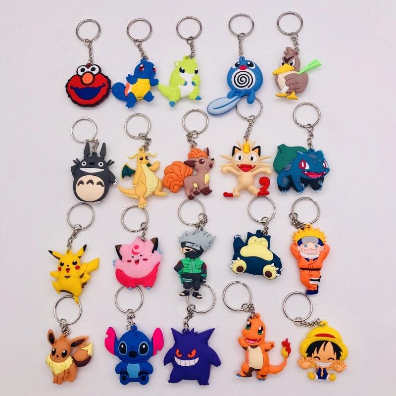 Super Hero Cartoon PVC Charm Pendant Keychain Accessory Kids Toy Xmas Party Gift