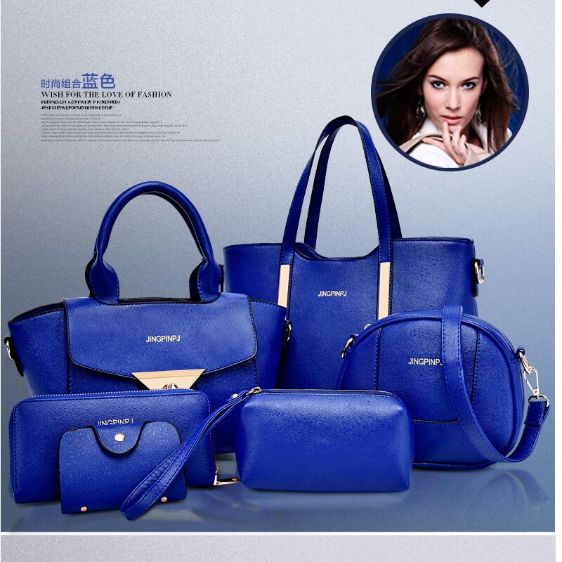 3f63bd75f0d New 2015 women handbags leather handbag women messenger bags ladies brand  designs bag Handbag+Messenger Bag+Purse 6 Sets GD05-in Top-Handle Bags from  ...