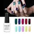 Belle Fille 8ml Light Color Gel Nail Polish Colors UV Gel Polish Flesh Varnish Nail Professional Soak Off Gel Glitter Lacquer