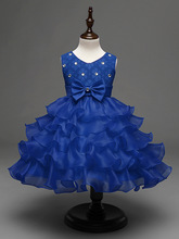 Infant Party Frock Size 0-6 Toddler Kid Summer Bowknot Mini Bow Wedding Party Dresses for 4 Years Girls Wear Evening Gown