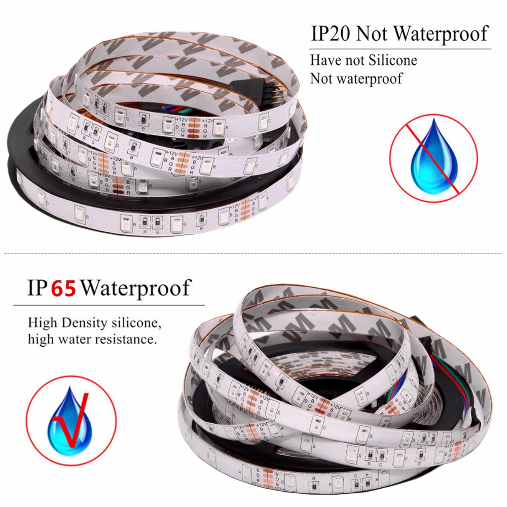 RGB LED Strip Waterproof 2835 5M 10M DC12V Fita LED Light Strip Neon LED 12V RGB LED Strip Waterproof 2835 5M 10M DC12V Fita LED Light Strip Neon LED 12V Flexible Tape Ledstrip With Controller and Adapter