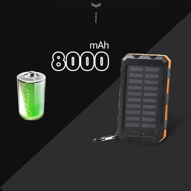 No Battery Diy Power Bank Case Battery Charger Kits Box Attractive Fashion 100% Quality Waterproof 50000mah Solar Panel Led Dual Usb Ports Mobile Phone Adapters Mobile Phone Accessories