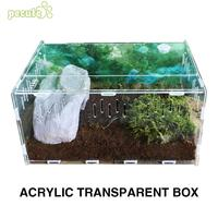 2018 Terrarium Reptile Box Terra Breeding Stackable Animal Transportation Incubating Gecko Lizard Reptile Terrarium Climb Box