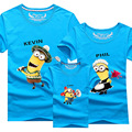 New family look t-shirt yellow people father mother family clothing cotton short sleeve 11 colors family matching clothes AF1508