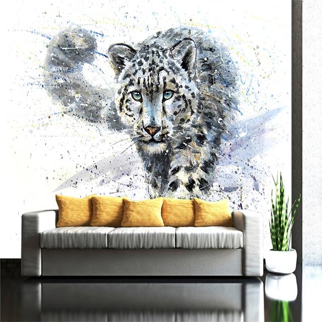 Creative אמנות הדפסי תמונות כחול עיני נמר נמר בד ציורי שמן טפט שחור ולבן בעלי החיים פוסטר בית תפאורה