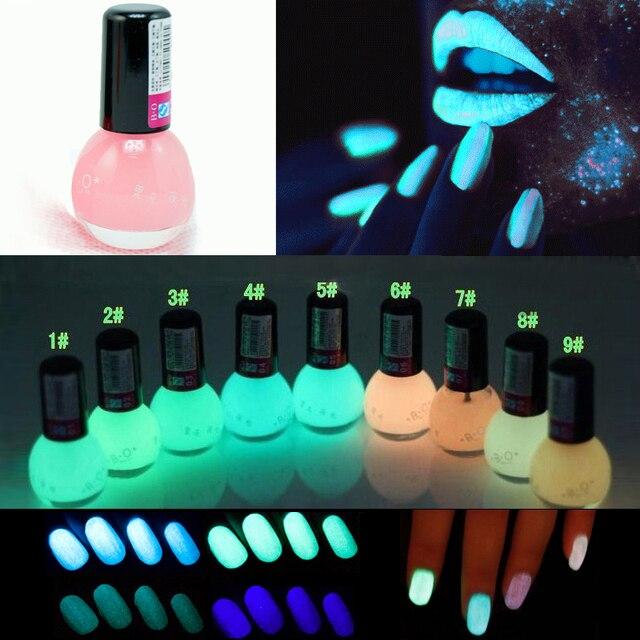 1Pcs Fluorescent Transparent Light Pink Neon Luminous Gel Oil Matte ...
