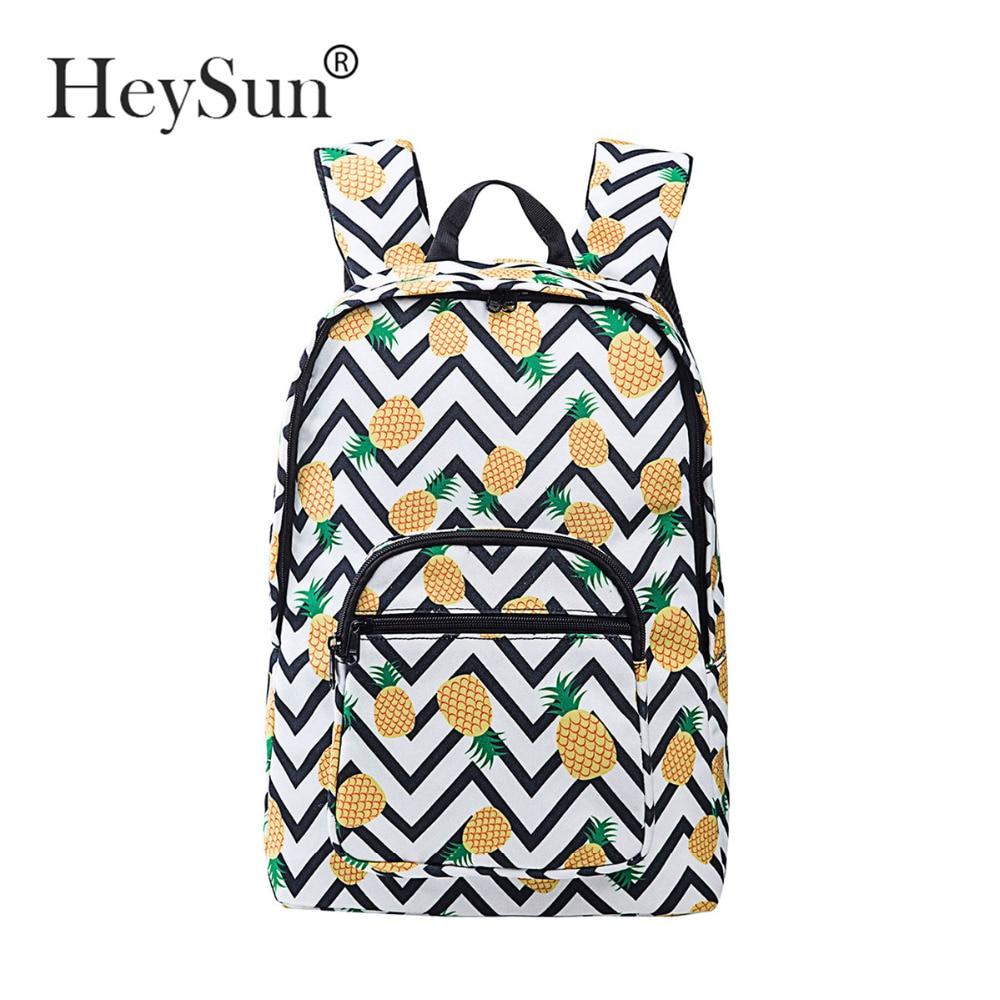 Cute Yellow Pineapple Backpack for Girls Lightweight Canvas School College Bookbags for Women Travel Rucksack