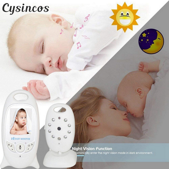 CYSINCOS Wireless Video Baby Monitor 2,0 Zoll Sicherheit Kamera 2 Weg Sprechen LED Temperatur Monitor Mit 8 Lullaby