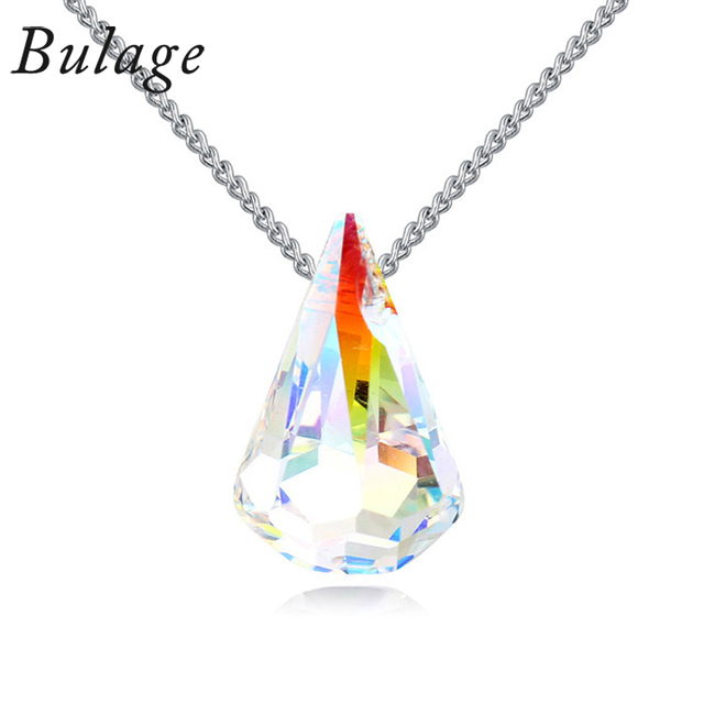 Bulage  Beautifully raindrop pendant necklace made with Austria crystals from Swarovski for 2017 brides maids wedding jewelry