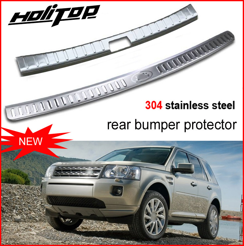 hot for landrover Freelander 2 rear bumper protecting sill/scuff plate,rear trunk door sill,interior or exterior, 2pcs,HITOP SUV new arrival for lexus rx200t rx450h 2016 2pcs stainless steel chrome rear window sill decorative trims