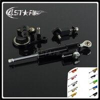 Motorcycle Steering Damper Stabilizer & Bracket For KAWASAKI ZX6R ZX 6R 2005 2006 05 06
