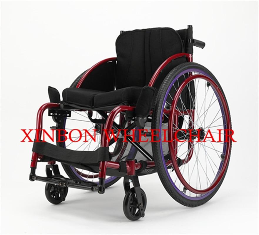 2018 nouveau style pliable manuel sport en fauteuil roulant pour handicapés