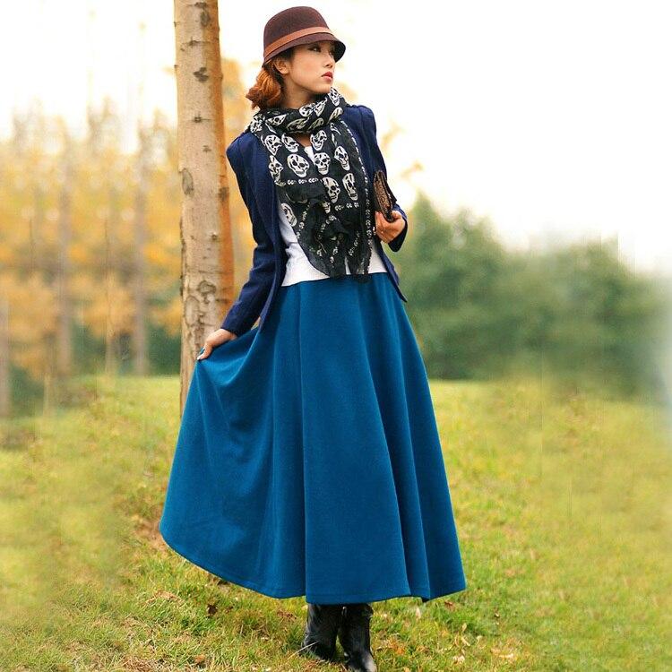 Длинная юбка зима-осень фото