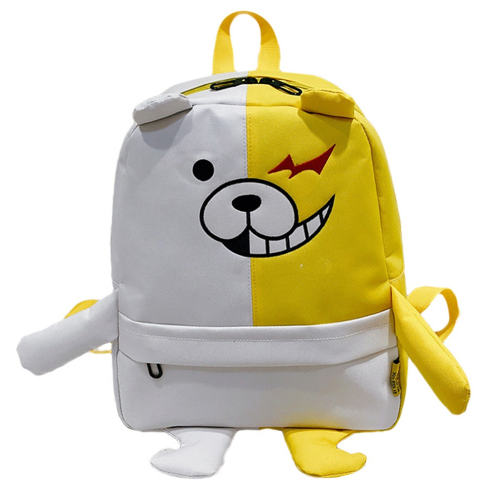 Danganronpa Cosplay Black White bear backpack School Cosplay Bag Accessories Anime canvas bag Danganronpa Cosplay Costume Bag