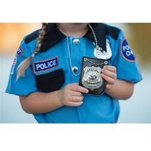 Новинка, американская полицейская ролевая игрушка, наряжающаяся, ролевая игра, американская полиция, специальный значок с цепочкой и зажимом для ремня