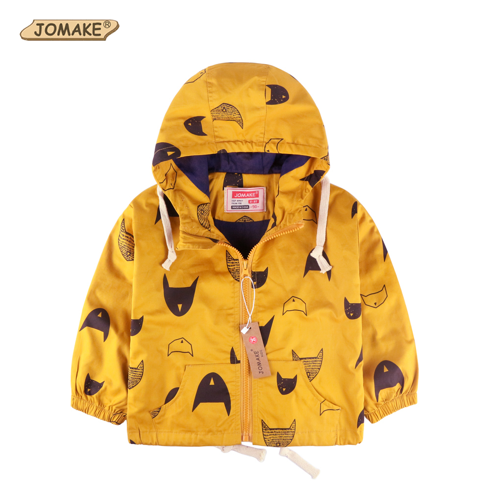 Cartoon Pattern Baby Boy Jacket Autumn New Fashion Brand Kids Outerwear & Coats Boys Clothes Children Windbreaker Kids Jackets