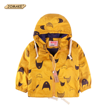 Cartoon Pattern Baby Boy Jacket Autumn New Fashion Brand Kids Outerwear & Coats Boys Clothes Children Windbreaker Kids Jackets