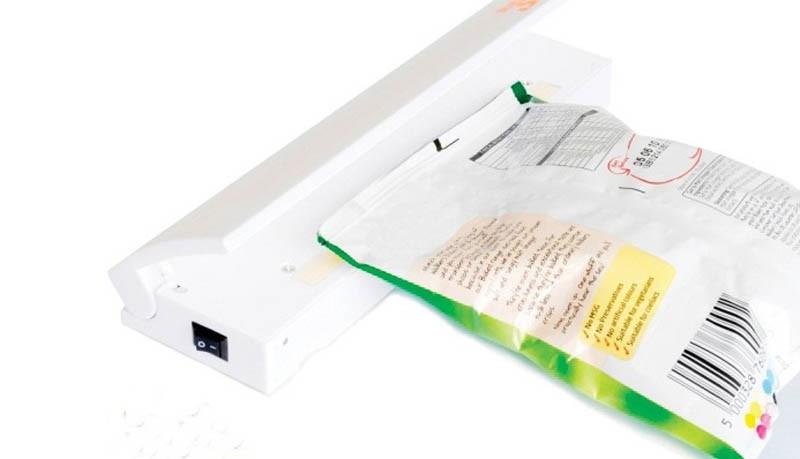 запечатать сохранить портативный вакуумный упаковщик сохранить шлем мини рука тепла пластиковый пакет сохранения продуктов питания герметик удобная машина как видно на тв