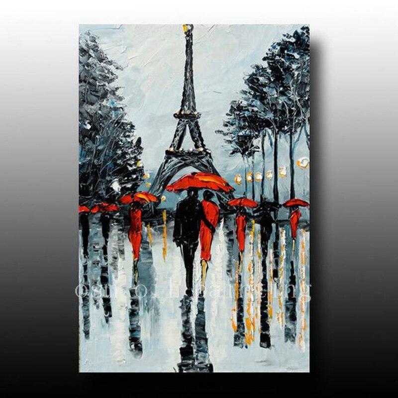 Əl ilə işlənmiş qara və ağ Paris şəkil palitrası bıçaq - Ev dekoru - Fotoqrafiya 1