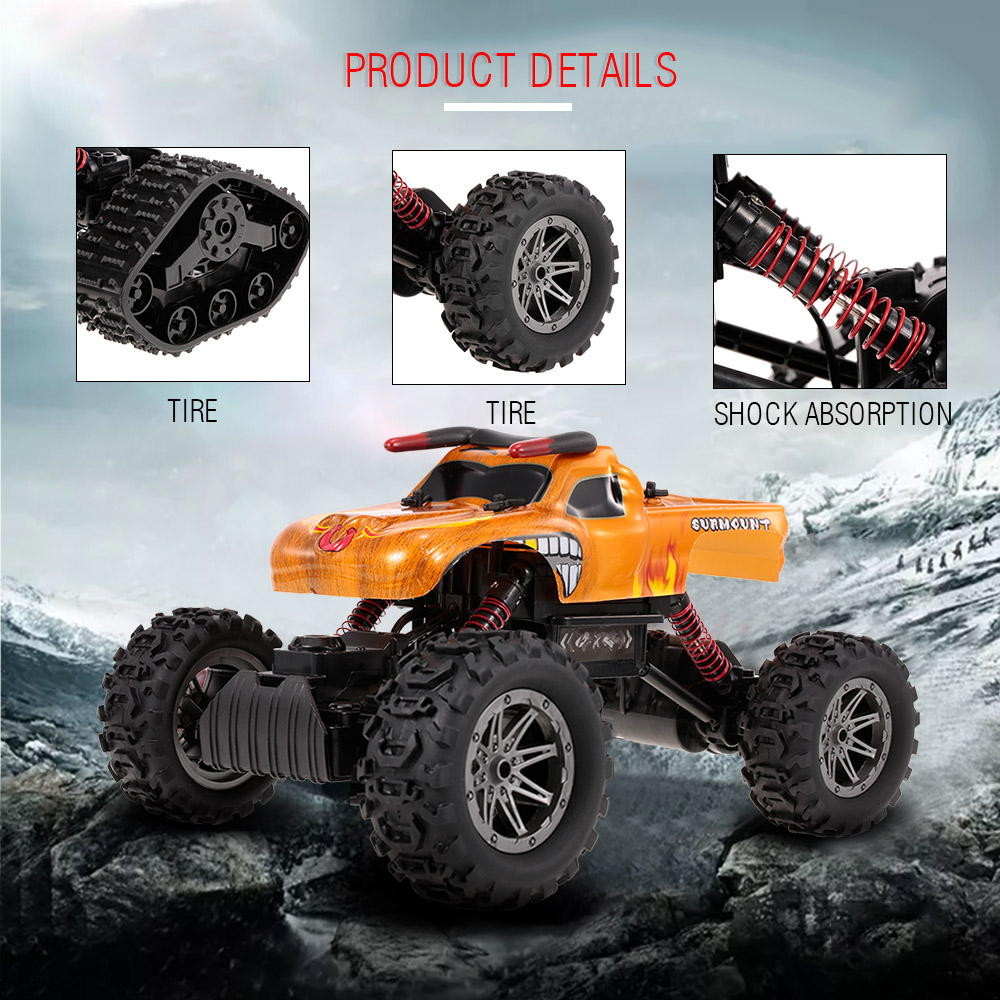 цена RC Car 8897-189E 1/12 2.4G 4WD DIY Tire All Terrain High Speed RC Rock Crawler Outdoors Toys for children
