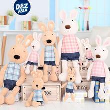 Le Sucre Sugar RABBIT plaid fabric design  stuffed dolls Birthday valentine's day gift factory wholesale