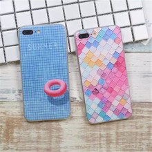3D Relief Painting Geometric Graphic tartan Pattern Coque Fundas Hard Clear Case For iPhone 6 6s/ 6 6S 6Plus /7 7 Plus  C21