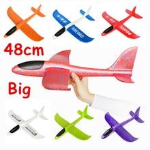 48 Cm Tangan Besar Peluncuran Melemparkan Busa Palne Epp Pesawat Model Pesawat Glider Pesawat Model Outdoor DIY Mainan Pendidikan untuk anak-anak