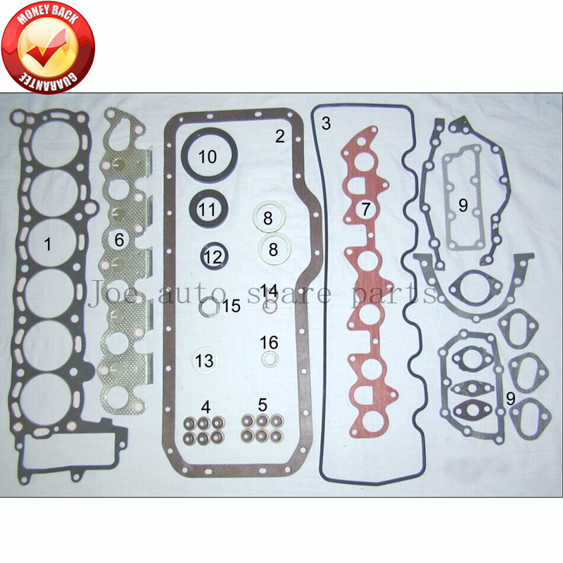 5 м 5me Двигатели для автомобиля полный комплект прокладок Набор для Toyota Крессида/корона 2759cc 2.8l 1980-1985 04111- 43010 04111-43012 04111-43011