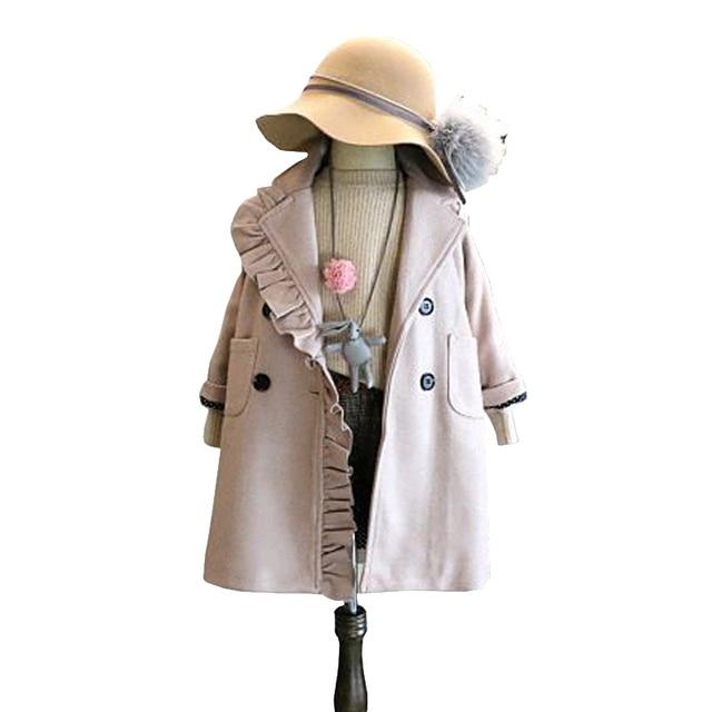 Aliexpress Com Buy Baby Girl Flower Lace Overcoat Kids Dubble