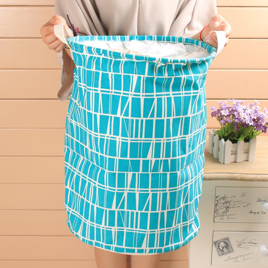 New Large waterproof Laundry Hamper Bag Stripe Clothes Storage Baskets Home clothes barrel Bags kids toy storage laundry basket