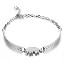 High Quality Elephant Stainless Steel Bracelets&Bangles for Women Men Adjustable Sequins Cuff Bracelet Pulseras Mujer Jewelry