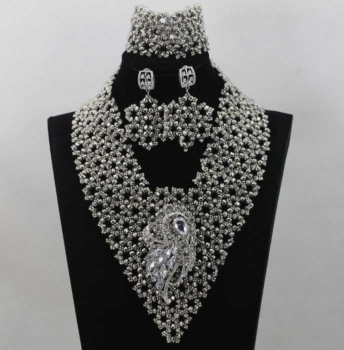 Wow!New Design!Handmade Indian Wedding Jewelry Sets Crystal ...
