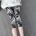 Calças das mulheres para as mulheres 7 leggings summer estilo macio de microfibra com impressão de alta elástica dos desenhos animados imprimir leggings de seda de leite