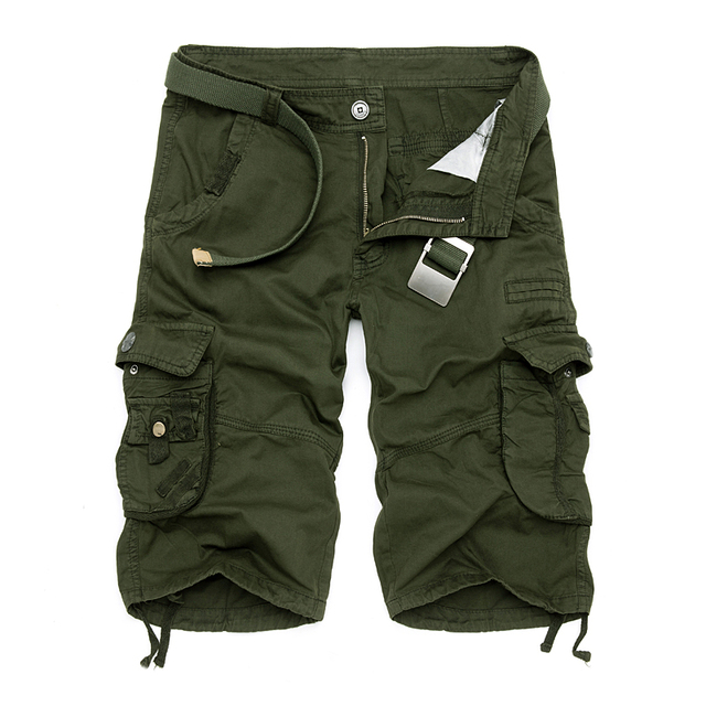 New 2018 Men Cargo Shorts Casual Loose Short Pants Camouflage Military Summer Style Knee Length Plus Size 10 Colors Shorts Men 3