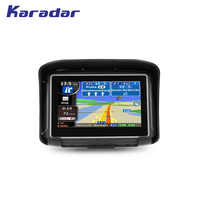KARADAR New waterproof motorcycle GPS navigator 4.3 inch with 360 degree handlebar holder Resistive touch screen 8G flash