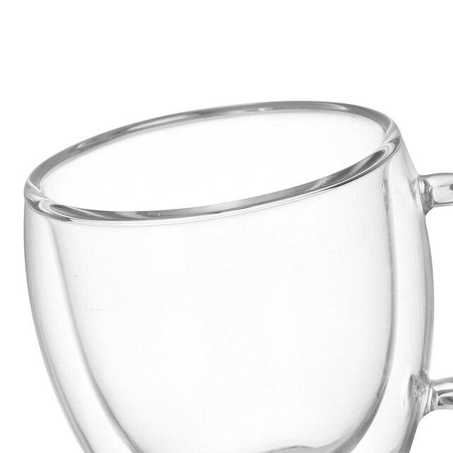 Trasparente Articoli e Attrezzature per Acqua, Caffè, Tè Tazze di Caffè Tè Set Tazze di Birra Bere Ufficio Tazza Tazza di Doppio Vetro Tazza di stile Semplice