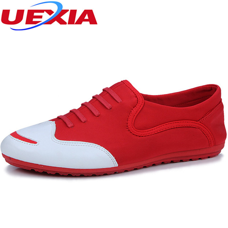 UEXIA Man Shoes Leather Sneaker Luxury Brand Driving Breathable Summer Shoes Men Tenis Masculino Adulto Footwear Walking Slip-On