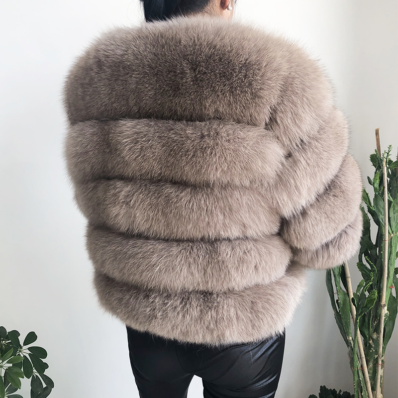 2019 new style real fur coat 100% natural fur jacket female winter warm leather fox fur coat high quality fur vest Free shipping 81