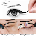 10pcs Cat Eye,Smokey Eye Makeup Eyeliner Stencil 2 Sides Repeatable Use Eye Liner Card Eye Template Tools Eyebrows Stencils Kits