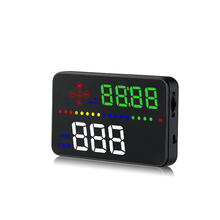 OBDHUD A300 OBDII Head Up Display 9V-16V MPH KM/H Fuel Speed Warning System Windshield Projector Car Accesorie Free Shipping a8 car hud head up display car speedometer 5 5 inch windscreen projector obd2 code reader speed alarm voltage mph km h display