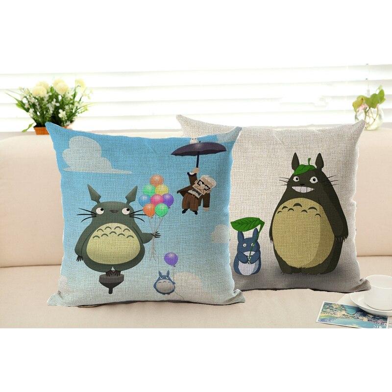 Cushion Covers Totoro Pillowcase Japanese Pillow Case Cute Cartoon Animal Totoro Throw Pillow Case Cushion Cover Free Shipping