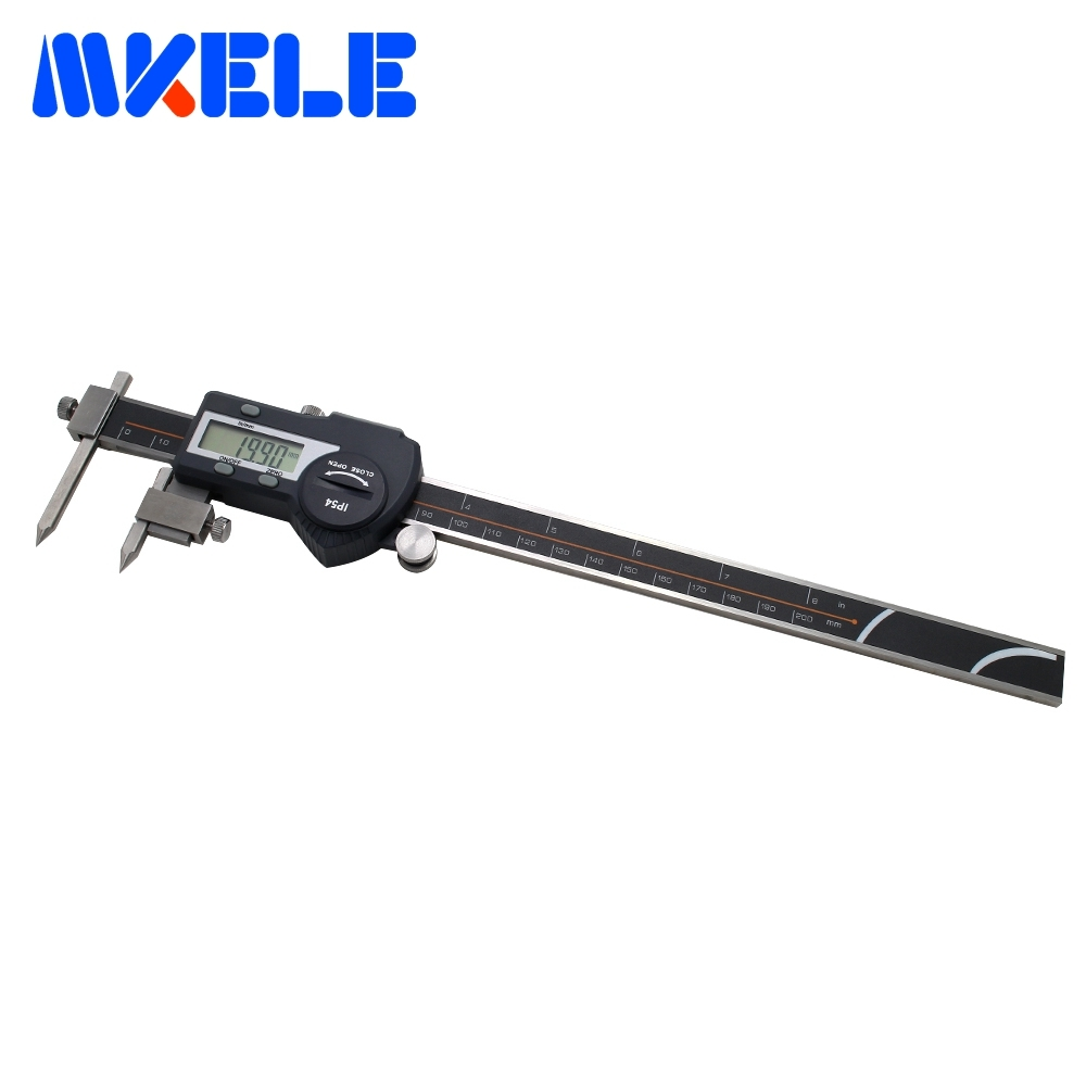 5-200mm Center Distance Digital Vernier Caliper Digital Center Thickness Gauge Caliper Micrometer Steel Digital Caliper стоимость
