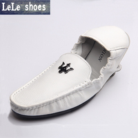 NEW Fashion Men Flats Shoes Hand Made Action Leather Breathable Soft Sole Slip On Cowhide Mocassins
