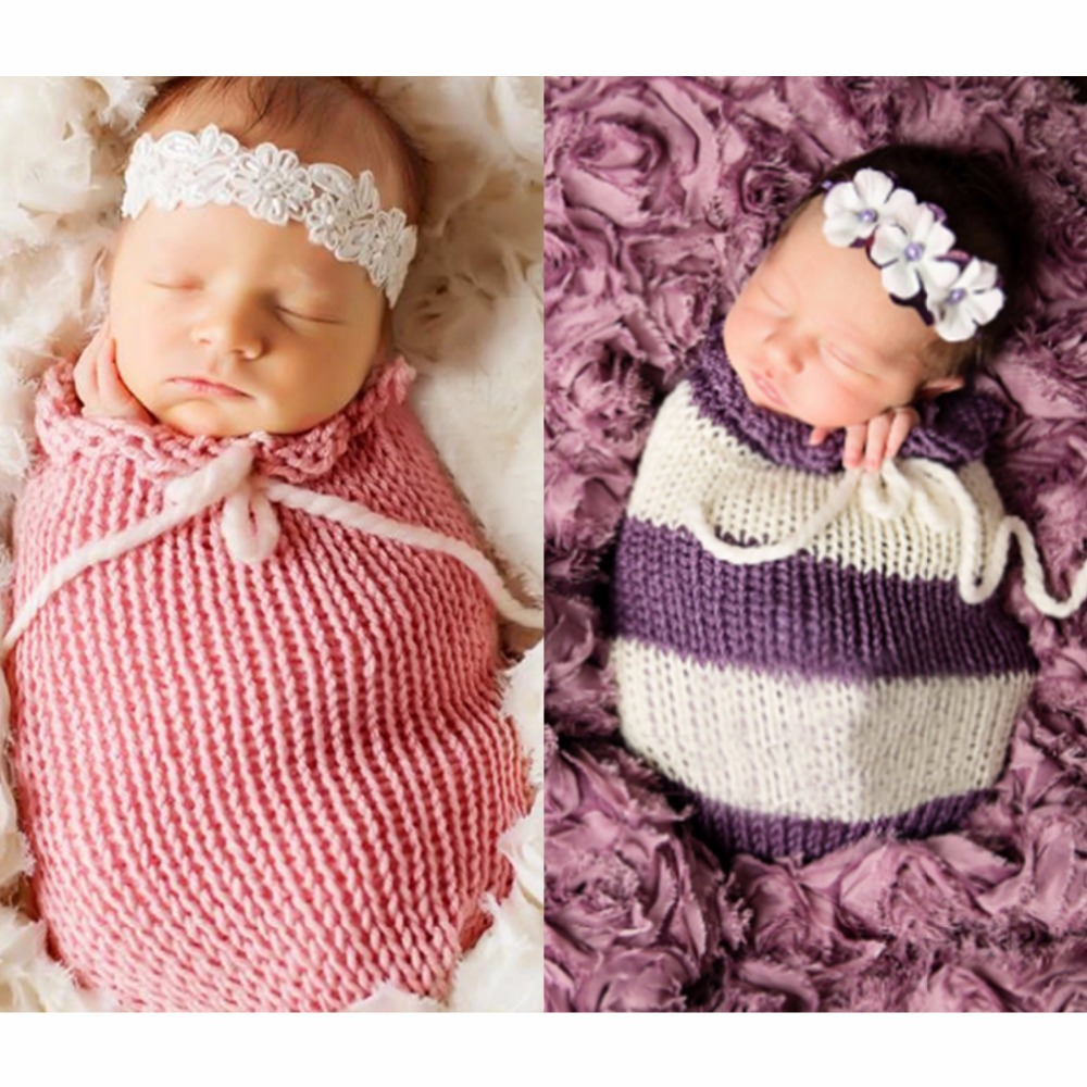 Baby Photography Props Blanket Stretch Knit Wraps Newborn Photo Swaddlings SUN