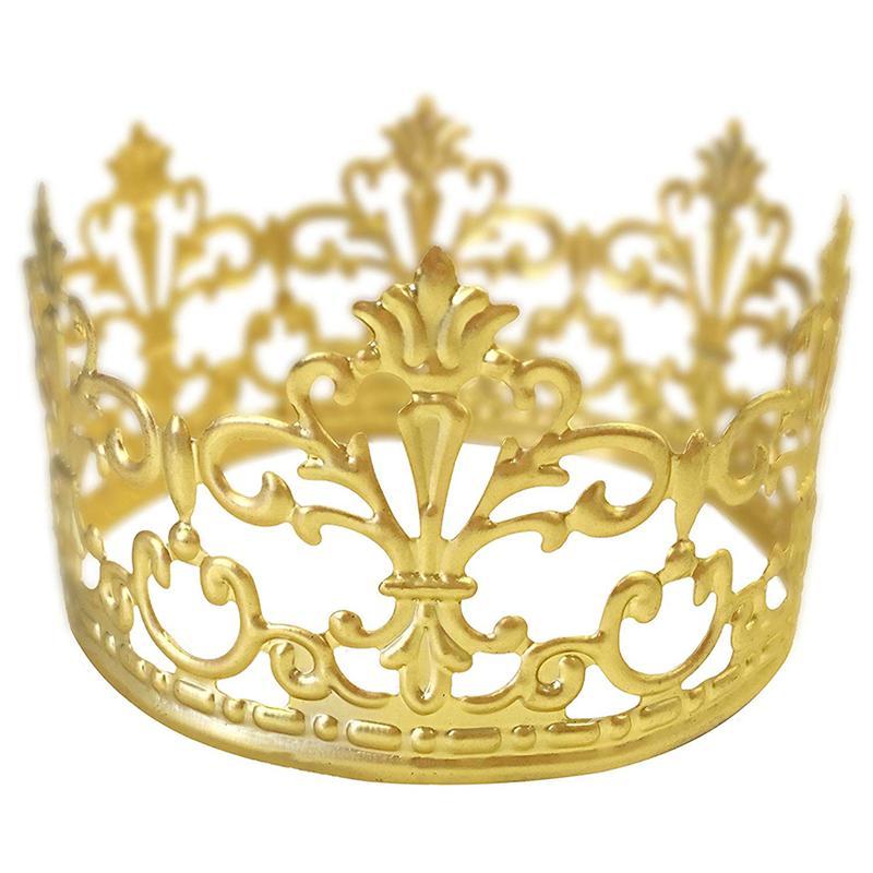 Elegant Gold Decorative Delicate Tiara Crown Cake Decoration Crown For Wedding Party Birthday Bridal Shower