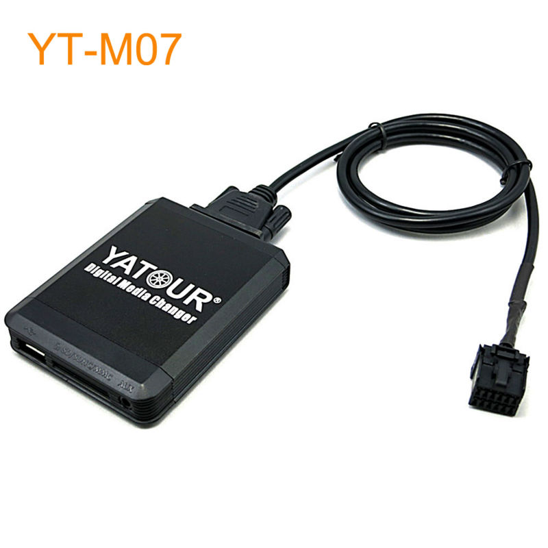 Yatour Car MP3 USB SD CD Changer for iPod AUX with Optional Bluetooth for Ford Escort Explorer Fiesta Focus Transit Scorpio yatour for 12pin vw audi skoda seat quadlock yt m06 car usb mp3 sd aux adapter digital cd changer interface