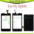Сенсорная Панель Для Fly IQ449 IQ 449 Экран Digitizer + ЖК-Дисплей С Сенсорным Экраном Дигитайзер